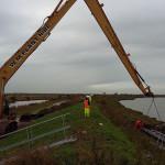 EMV on long reach excavator