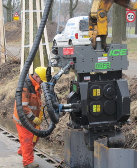 ICE 8RFB Resonance Free Excavator Mounted Vibrator